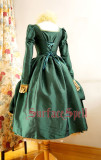 Surface Spell -The Other Boleyn Girl- Long Sleeves Vintage Gothic Lolita OP One Piece Dress