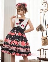 Magic Tea Party -Peach- Sweet Lolita JSK Jumper Skirt