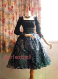 Surface Spell -Lady in Darkness- Silver Pressed Normal Waist Gothic Lolita Skirt
