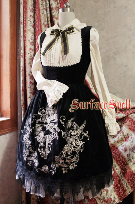 Surface Spell -Judgment Day- Embroidery Gothic Lolita Corset JSK Jumper Dress