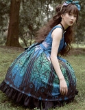Magic Tea Party -The City of Aurora- Printed Classical Lolita JSK Jumper Skirt