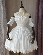 Magic Tea Party -Ballet- Off Shoulder Halter Neckline Sweet Lolita OP One Piece Dress with Detachable Sleeves