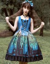 Magic Tea Party -The City of Aurora- Printed Classical Lolita JSK Jumper Skirt