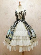 Yilia -Crystal Rabbit- Front Open Sweet Lolita JSK Jumper Dress