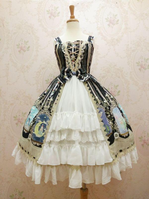 Yilia -Crystal Rabbit- Front Open Sweet Lolita JSK Jumper Dress