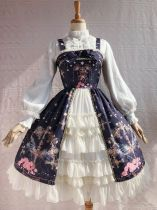 Yilia -Peacock Cross- Front Open Classic Lolita JSK Jumper Dress