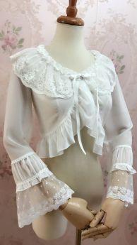 Yilia - Long Sleeve Chiffon Lolita Bolero