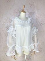 Yilia - Long Sleeve Chiffon Classic Vintage Lolita Blouse