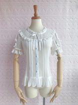 Yilia - Short Sleeve Chiffon Classic Lolita Blouse