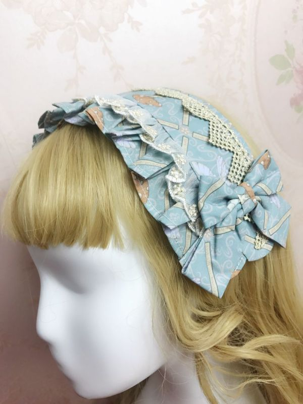 Yilia -The Spirit of Dream- Sweet Lolita Headdress(Headbow, Headband, Bow Hairpin)