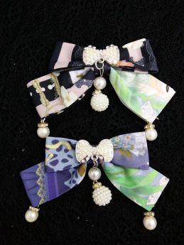 Yilia -Crystal Rabbit- Sweet Lolita Bow Hairpin
