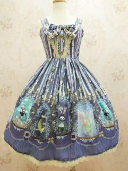 Yilia -Crystal Rabbit- Chiffon Sweet Lolita JSK Jumper Dress
