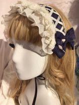 Yilia -Peacock Cross- Classic Lolita Headdress(Headband, Bow Hairpin)
