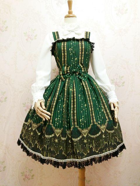 Yilia -Shdow- Classical Lolita JSK Jumper Dress