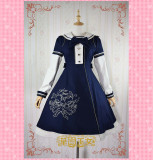 Strawberry Witch -Sailor Bear- Woolen Sailor Lolita Long Coat for Winter