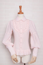 Yilia - Long Puffy Sleeve Chiffon Sweet Lolita Blouse