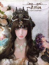 One Night Language - The Crown of Laurence - Vintage Classic Lolita Crown(Dark Blue Version)