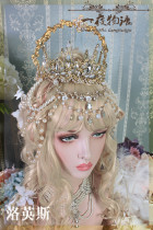 One Night Language - Goddess Halo - Vintage Classic Lolita Crown