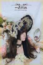 One Night Language - Classic Lolita Acessories(Bonnet, Necklace)