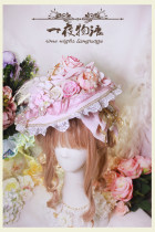 One Night Language - Classic Lolita Hat
