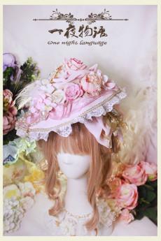 One Night Language - Classic Lolita Hat