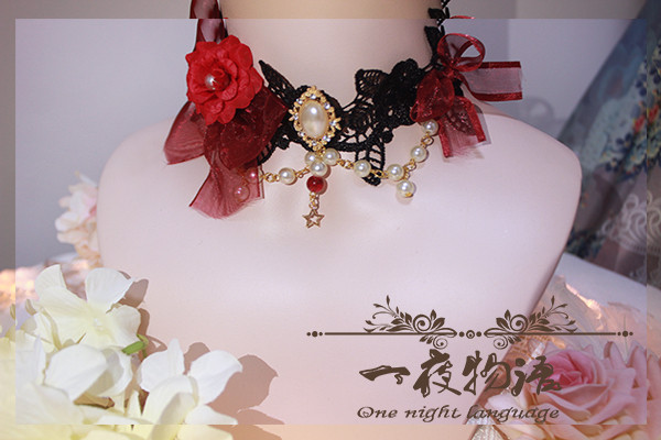 One Night Language - Classic Lolita Necklace with Beads