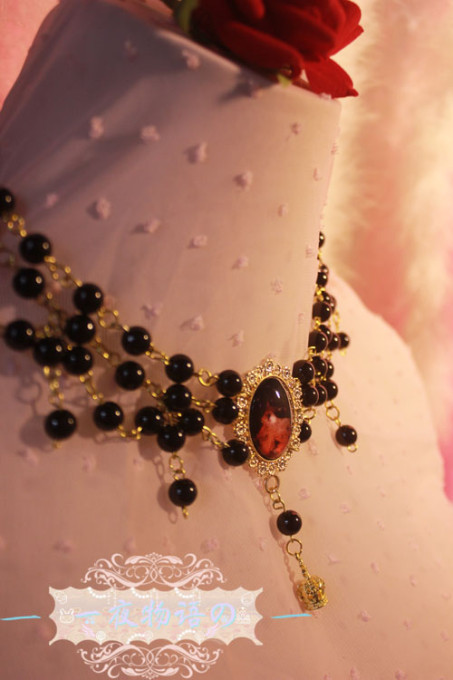 One Night Language - Bead Gothic Lolita Necklace