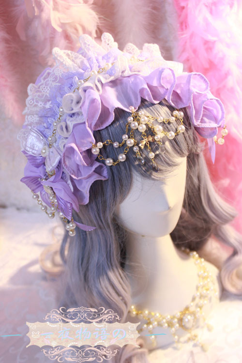 One Night Language - Sweet Lolita Headband with Pearls