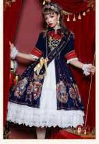 Uwowo -Coronation of Brumaire- Half Sleeve Classic Lolita OP One Piece Dress