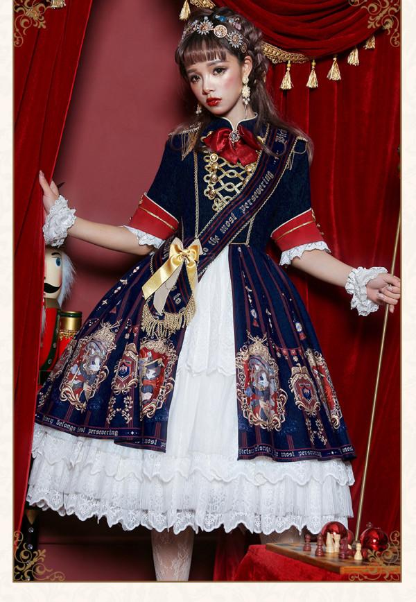 Uwowo -Coronation of Brumaire- Half Sleeve Classic Lolita OP One Piece Dress