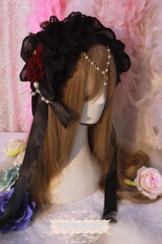 One Night Language - Gothic Lolita Headband with Pearls