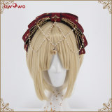 Uwowo -Coronation of Brumaire- Classic Lolita Accessories(Body Sash and Headbow with pearl chain)