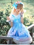 Brocade Garden -Whale Castle- Sweet Casual Lolita JSK Jumper Dress