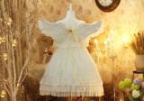 Diamond Star -Luna- White Sweet Lolita OP One Piece Dress