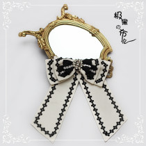 Diamond Star -Black Bunn- Lolita Accessories(Headband,Necklace and Waist Bow)
