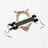 Diamond Star -Black Bunn- Lolita Accessories(Headband,Necklace and Waist Bow)