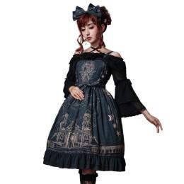 Eieyomi -The City of Deer- Gothic Lolita JSK Jumper Dress