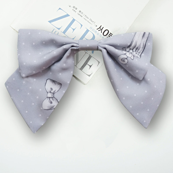 Eieyomi -Girl'Rom- Sweet Lolita Bow Hairclip