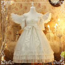 Diamond Star -Luna- White Sweet Lolita OP One Piece Dress