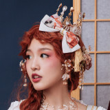 Eieyomi -Demons in Middle Night- Classic Lolita Bow Hairclip