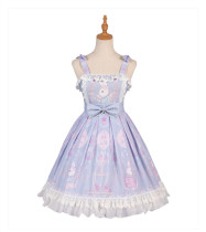 Yingluofu -Miss Rabbit- Sweet Casual Lolita JSK Jumper Skirt