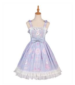 Yingluofu -Miss Rabbit- Sweet Casual Lolita JSK Jumper Skirt