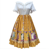 Hanweika -Spring Cane- Sweet Casual Lolita OP One Piece Dress