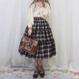 Mousita - Casual Classic Vintage College Lolita Skirt
