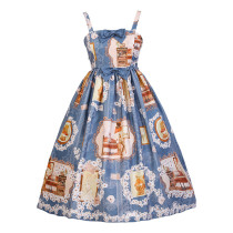 Diamond Star -The Fox's Love Letter- Casual Lolita JSK Jumper Dress