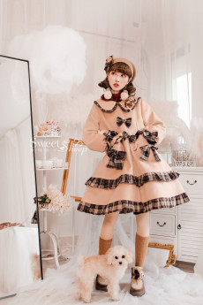 Sweetsheep -Chocolate- Wool Sweet Lolita Long Coat