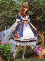 Mengyu -Snow White- Short Sleeve Sweet Lolita OP One Piece Dress