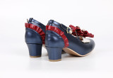 Dong Family -Snow White- Middle Chunky Heel Round Toe Buckle Sweet Lolita Shoes with Bow and Pearl