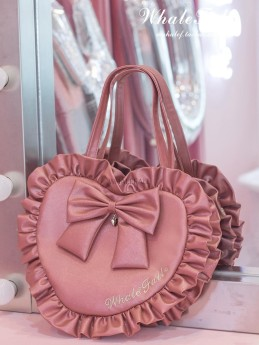 Whale Fall - Sweet Big Heart Shaped Lolita Shoulder Bag