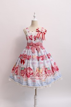 Alice Girl -Cream Strawberry- Sweet Lolita JSK Jumper Dress